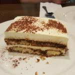 Tiramisu...what what a portion it is! Included with our dinner special and yes with coffee or te