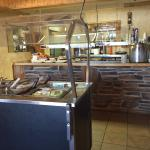 Lunch buffet and salad bar