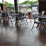 Outdoor seating upper level
