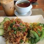 Thai Milk Tea, Khao Phad Moo and Tom Yum