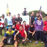 At the peak of Mount Santubong