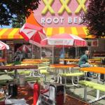 Outdoor dining at XXX RootBeer