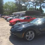 This is what it looks like when a Corvette club visits the museum.