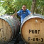 Pete with our Fortified Shiraz