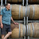 Pete and his Shiraz barrels!