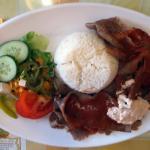 Kebab with rice