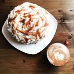 Fairtrade coffee, home baked cake