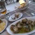 Local shellfish dish.