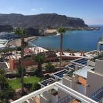 Views from a top (5th floor) apartment at Monte Golf Suits in Gran Canaria looking over Playa de