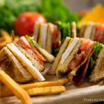 Try the club sandwich!