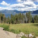 scenic view overlooking Lake Pend Oreille