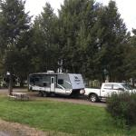End of the row at Jim and Mary's RV Park