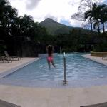 Amazing view of the Arenal from the pool.