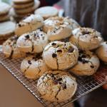 Chocolate Pistachio Meringues & Sesame Tahini cookies