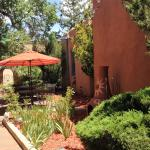 Courtyard at Inn at Pueblo Bonito- Santa Fe, NM