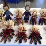 Handcrafts at Santa Fe's Farmers Market walking distance from Pueblo Bonito b&b inn.