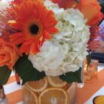 gorgeous center pieces at corporate dinner function