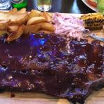 Full rack of ribs - you'd better have a big appetite!
