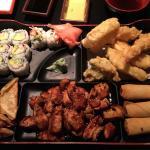 Dinner box with teriyaki chicken