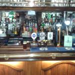 The bar and real ale selection