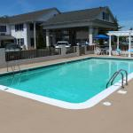 Newly rennovated pool outfront of property!! Great place