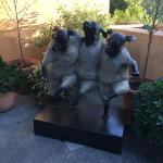 Great sculpture at entrance to hotel/spa side.
