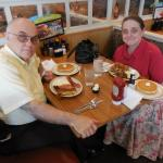 Enjoying beef tip combo and breakfast sampler at IHOP