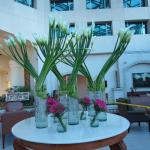 One of many flower arrangements in lobby