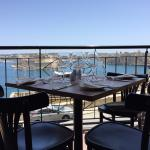 The restaurant's view over the Grand Harbour