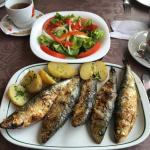 Grilled cod with potatoes  Grilled sardines