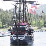 The Time Bandit getting ready to dock