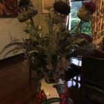 Thistles in the remarkable dining room