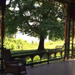 Perfect views of the Hudson from the porch