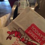 The traditionl apron is a gift that comes with the lobster!