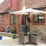 Accommodation and beer garden