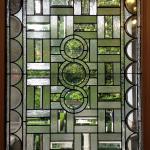 Entrance, leaded glass