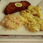 Pork/saurkraut/German potato salad