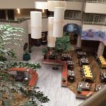 Atrium view from outside room door