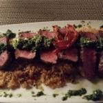 Lamb Tenderloin. Gorgeous pesto with mint to complement it