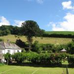 View across tennis court, Fingals Devon
