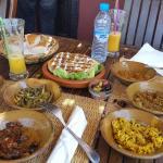 6 assortiments marocains et the à la menthe...