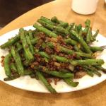 Spicy green beans and minced meat