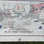 Map of Bear Creek Greenbelt area
