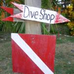 The path to the dive shop.