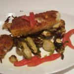 pan fired local fish with Brussels spouts.