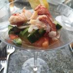 Kona lobster, avocado salad.