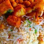 Muttar Panir & Pilau Rice