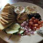 Hummus plate. Build your own. Yummy!