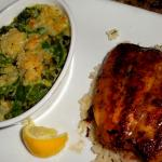 Salmon with creamed spinach