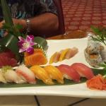Sushi and Sashimi Combo.